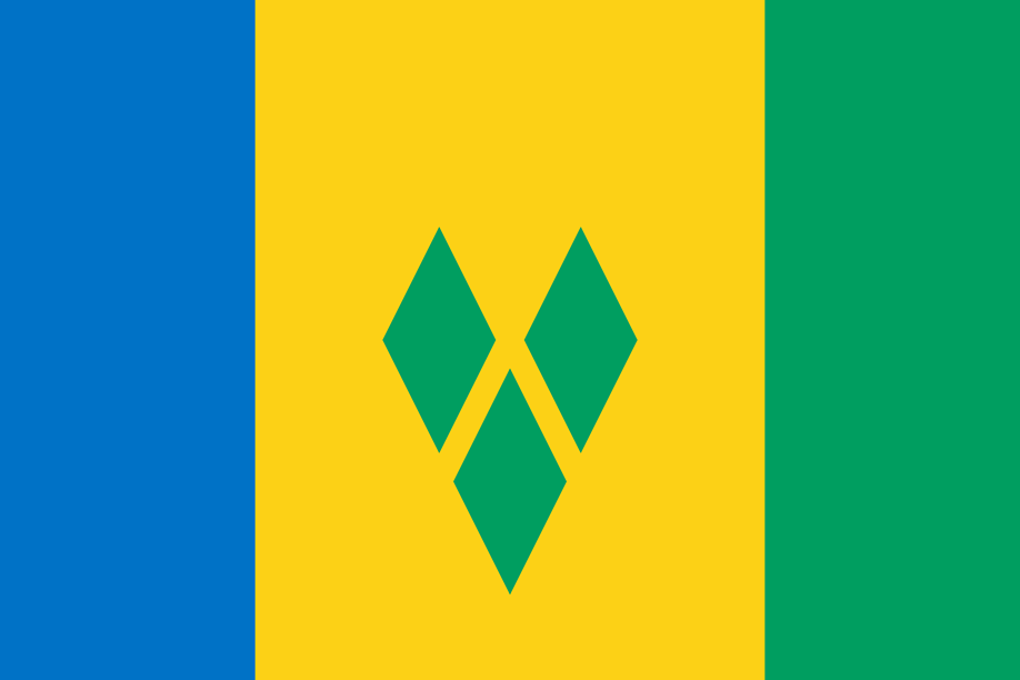 St Vincent and the Grenadines flag