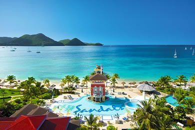 15bb26a7ed3ed8 ... the volcanic island of St Lucia is home to the famous dramatic pitons.  The strikingly beautiful island of St Lucia possesses 3 Sandals resorts ...