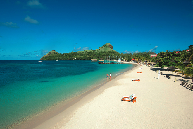 St Lucia, Sandals and Beaches